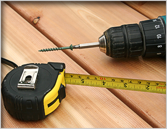 Measuring Tape and Power Drill